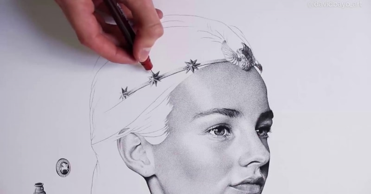 Artist Spends 300 Hours, 3,000,000 Dots To Draw This  Portrait.